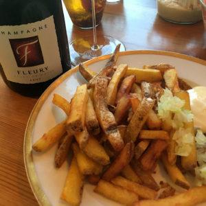 Champagner Fleury Pommes Frittes